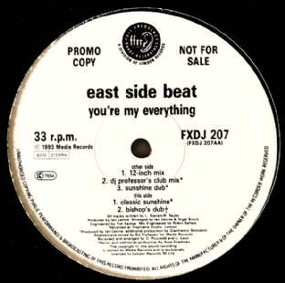 "East Side Beat ‎- You're My Everything (12"") (Promo) (VG/NM)"